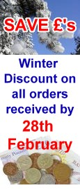 Save Pounds - Winter discount on all orders received by end of February